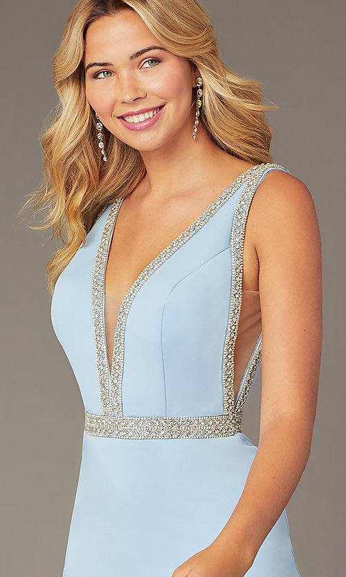 Image of JVNX by Jovani light blue homecoming short dress. Style: JO-JVNX2272 Detail Image 1