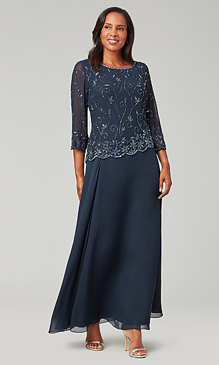 Long Sleeve Long MOB Dress