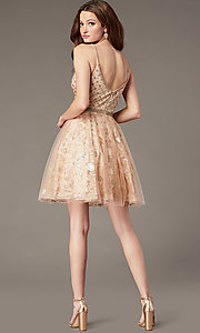 Image of JVN by Jovani babydoll short homecoming dress. Style: JO-JVN-JVN4298 Back Image