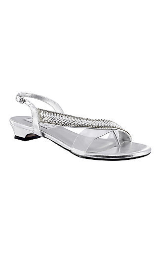 Touch Ups Eleanor Sandal in Silver