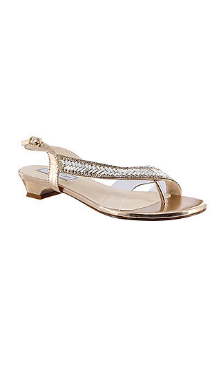 Rose Gold Eleanor Sandal with a Short Heel