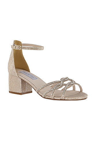 Touch Ups Zoey Sandal in Champagne Gold