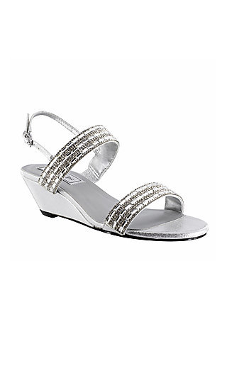 Touch Ups Allison Wedge Heel in Silver
