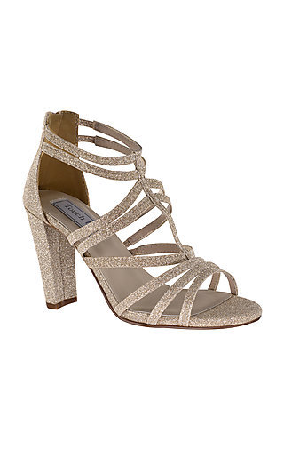 High-Heeled Rhyan Sandal in Champagne