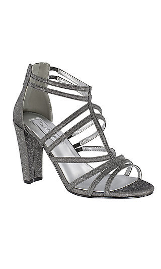 High-Heel Rhyan Sandal in Pewter Silver