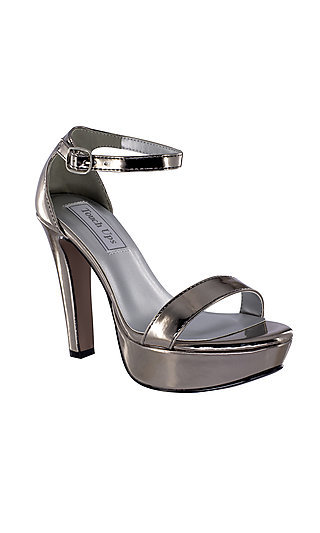 Touch Ups Pewter Silver Mary Pewter Platform Sandal