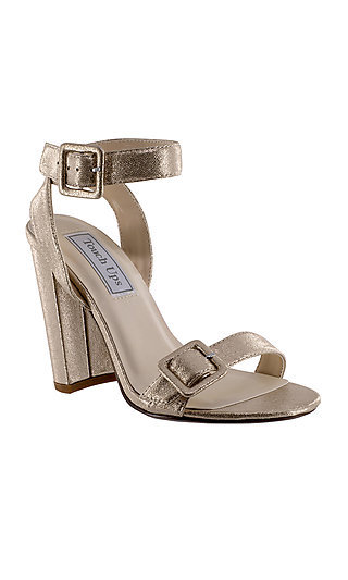 Metallic Nude Open-Toe Calista Sandal