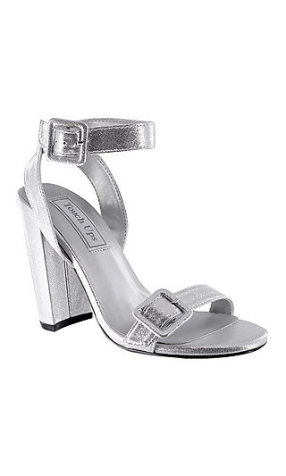 Calista Open-Toe Metallic Silver Sandal