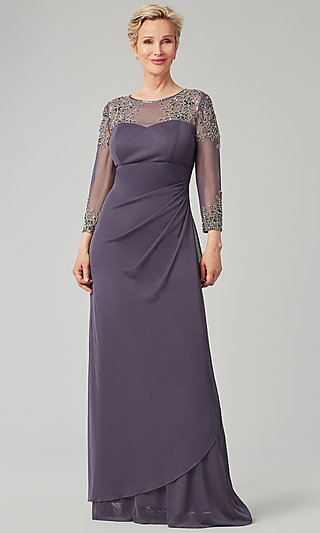 Vintage Violet Long Formal MOB Dress