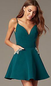 Image of Nina Canacci fit-and-flare homecoming dress. Style: NC-259 Front Image
