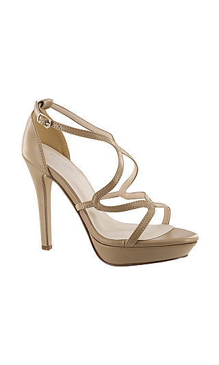 Open-Toe Taupe Vegan Leather Lennox Sandal