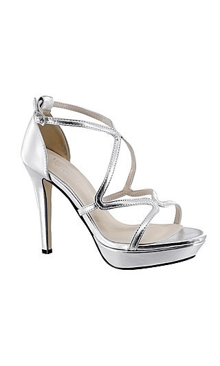 Lennox Open-Toe Sandal in Silver by Touch Ups