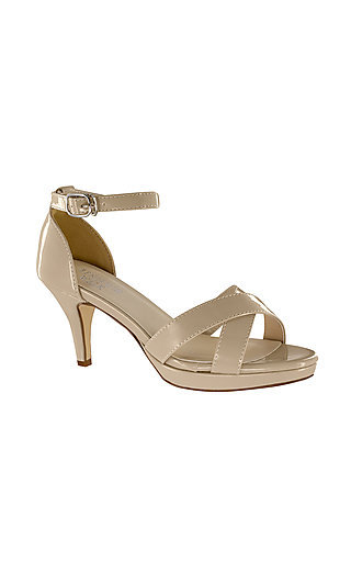 Suzanne Open-Toe Sandal in Nude