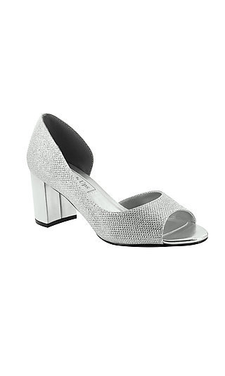 Joy Peep-Toe Pump in Silver by Touch Ups