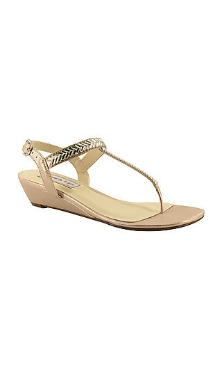 Kendra Thong Sandal in Nude by Touch Ups
