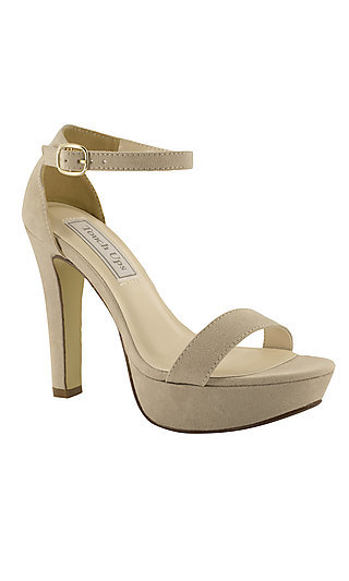 Mary High-Heeled Beige Platform Sandal