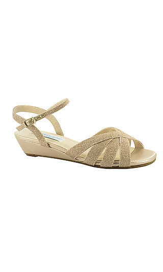 Emma Champagne Gold Sandal with a 1