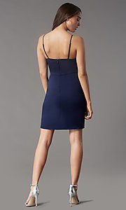 Image of short tight v-neck homecoming party dress by Simply. Style: LP-SD-MG20043 Detail Image 4