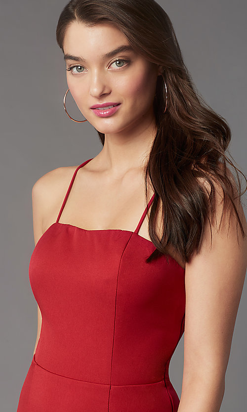Image of corset-back short homecoming party dress by Simply. Style: LP-SD-MG26503 Detail Image 5