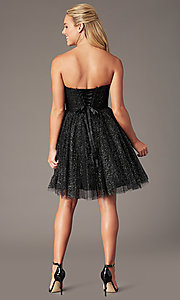 Image of strapless short sparkly homecoming party dress. Style: FB-GS2868 Back Image