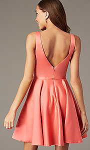 Image of short homecoming party dress with side pockets. Style: FB-GS2854 Back Image