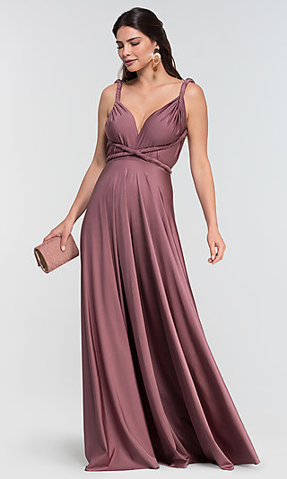 Long Convertible Formal Evening Gown