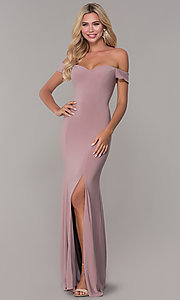 Image of Dave and Johnny long teal formal prom dress. Style: DJ-A6086-v Detail Image 1