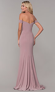 Image of Dave and Johnny long teal formal prom dress. Style: DJ-A6086-v Detail Image 2