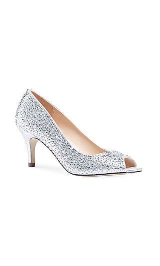Silver Chantal Pump with a 2 3/4