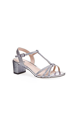 Sadie Silver Sandal with a 2 1/4