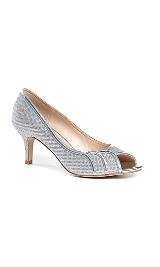 Chester Peep-Toe Silver Pump