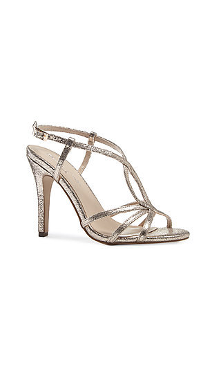 Open-Toe Champagne Magic Sandal with a 4