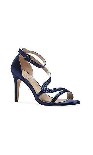 Navy Blue Satin McKayla 3 3/4