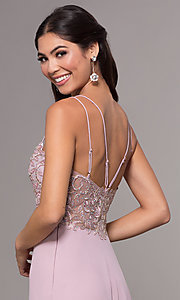 Image of long sweetheart chiffon formal prom dress. Style: SOI-W17850-v Detail Image 2