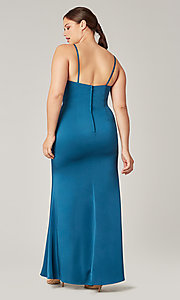 Image of affordable long wrap-style bridesmaid dress. Style: KL-200190 Detail Image 8