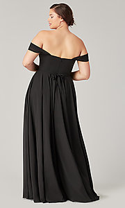 Image of sweetheart long bridesmaid dress with slit. Style: KL-200208 Detail Image 3