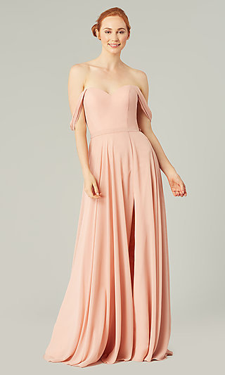 Sweetheart Long Bridesmaid Dress with Slit