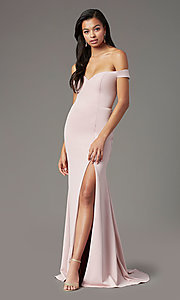Image of PromGirl long off-the-shoulder formal prom dress. Style: PG-B2028 Detail Image 3