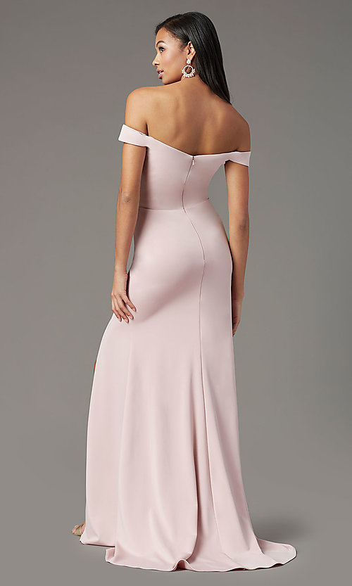 Image of PromGirl long off-the-shoulder formal prom dress. Style: PG-B2028 Detail Image 4