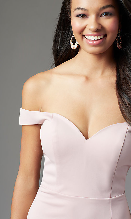 Image of PromGirl long off-the-shoulder formal prom dress. Style: PG-B2028 Detail Image 5