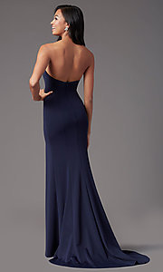 Image of long sweetheart strapless prom dress by PromGirl. Style: PG-F2023 Detail Image 3