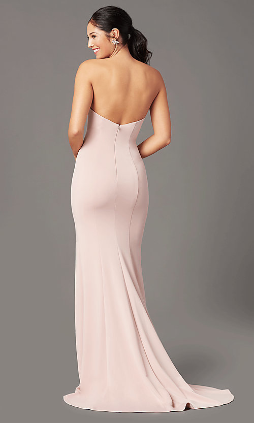 Image of long sweetheart strapless prom dress by PromGirl. Style: PG-F2023 Detail Image 6