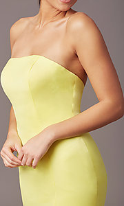 Image of PromGirl satin prom dress with short train. Style: PG-F2024 Detail Image 4