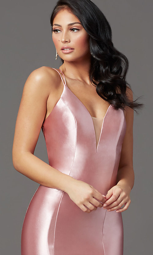 Image of trumpet-style open-back prom dress by PromGirl. Style: PG-Z20905 Detail Image 6