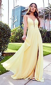 Image of corset-back long formal prom dress by PromGirl. Style: PG-B2004 Detail Image 3