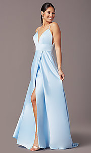 Image of open-back long formal prom dress by PromGirl. Style: PG-B2006 Detail Image 3