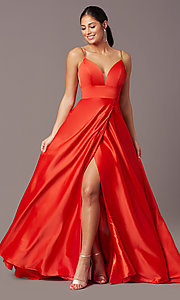 Image of open-back long formal prom dress by PromGirl. Style: PG-B2006 Front Image