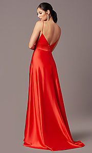 Image of open-back long formal prom dress by PromGirl. Style: PG-B2006 Back Image