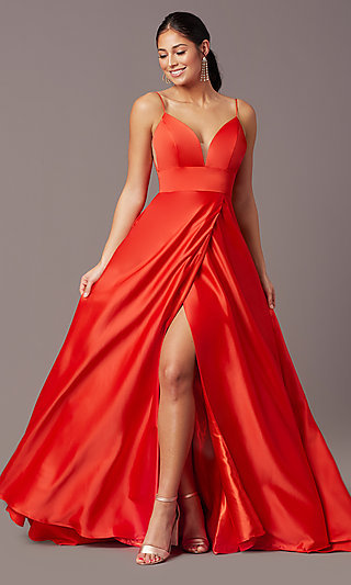Open-Back Long Formal Prom Dress by PromGirl