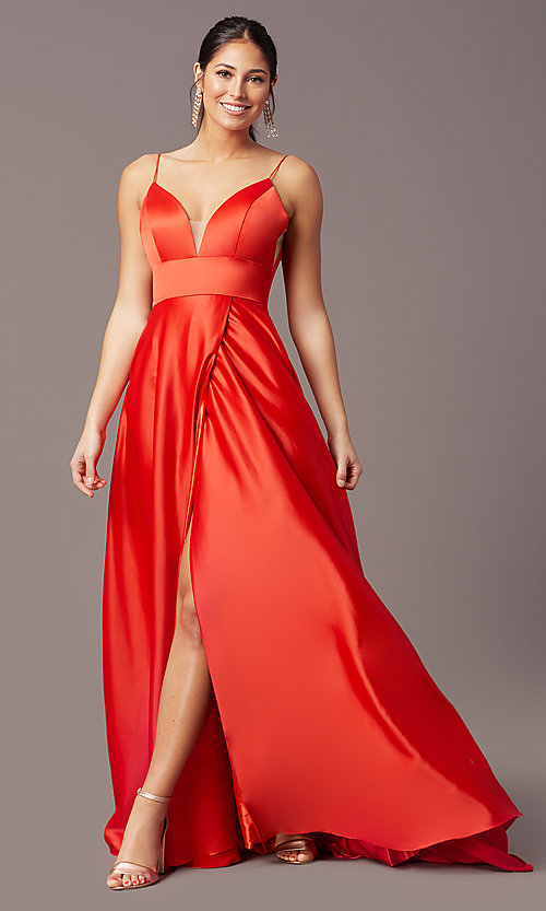 Image of open-back long formal prom dress by PromGirl. Style: PG-B2006 Detail Image 2